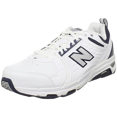 6896ca4c59c New Balance MX856 Mens White Leather Cross Training Shoes Size   Amazon.co.uk  Shoes   Bags