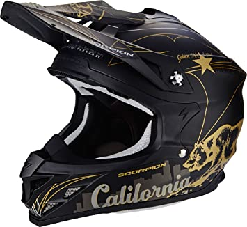 SCORPION Casco Moto VX-15 EVO AIR goldenstate, Black/Gold, ...