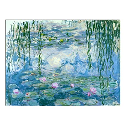 amazon com wieco art water lilies floral canvas prints wall art by