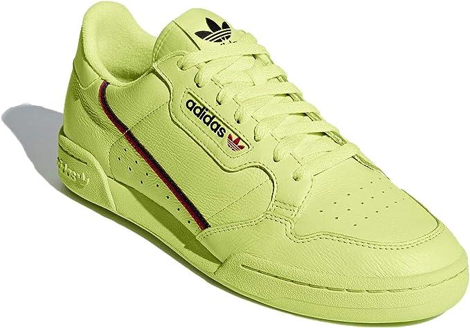 Sentirse mal Respiración Gaseoso  Amazon.com: adidas Continental 80 B41675 - Zapatillas para hombre, color  amarillo y escarlata: Sports & Outdoors