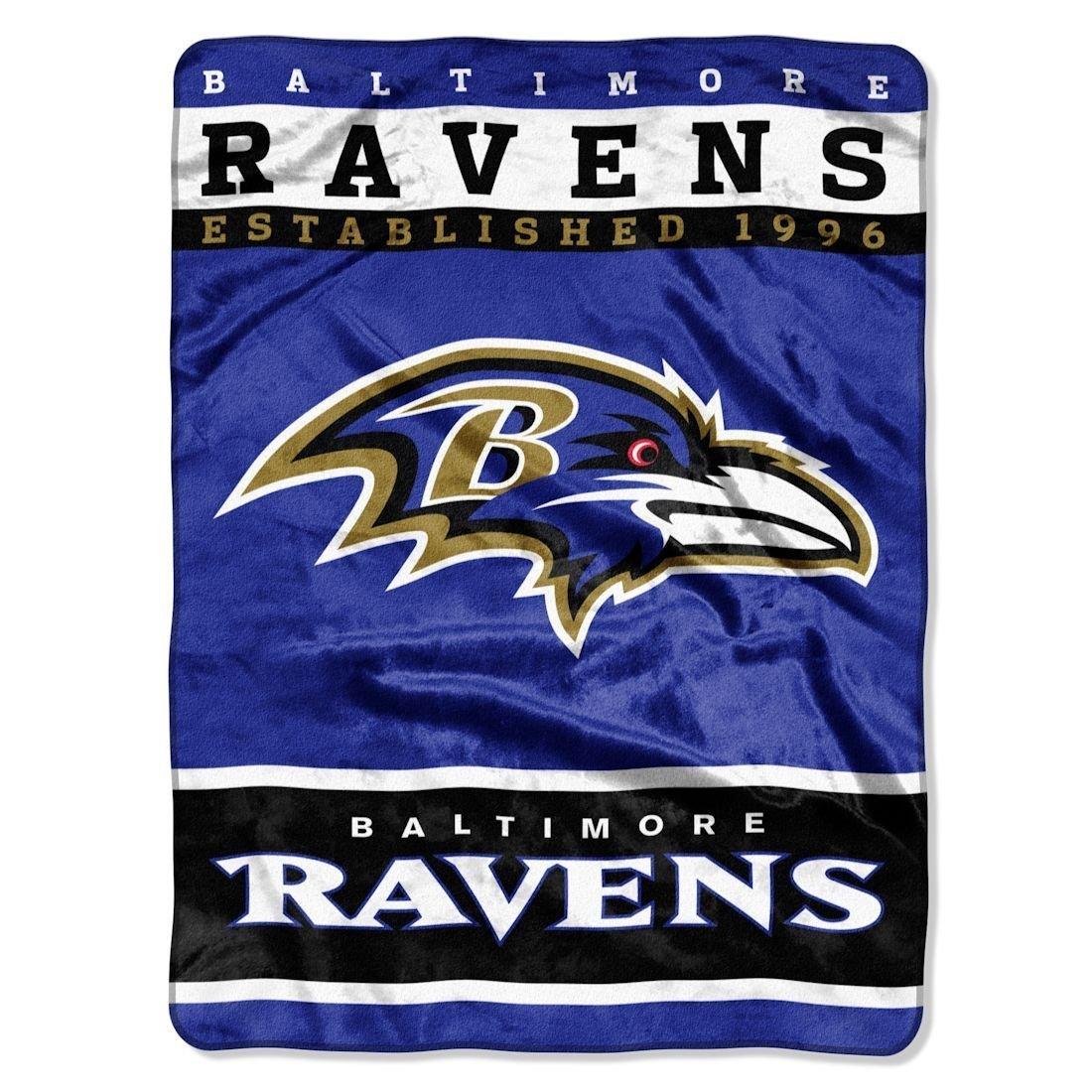 Baltimore Ravens NFL Royal Plush Raschel (12th Man Series) (60in x 80in)