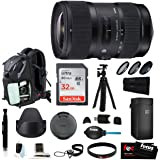 Sigma 18-35mm F1.8 Art DC HSM Lens for CANON DSLR Cameras w/ 32GB SD Card Travel Kit