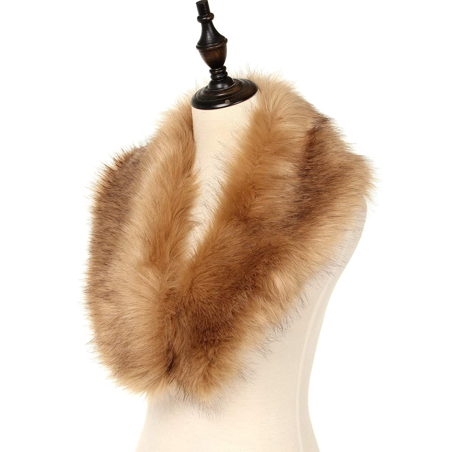 La Carrie Women's Faux Fur Collar Scarf Wrap Cold Winter Warmer LCSC001-P-3