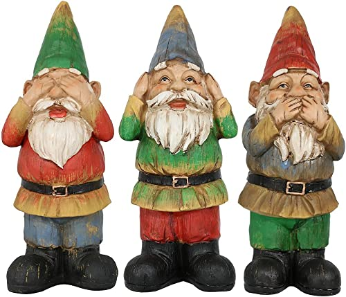 Sunnydaze Three Wise Garden Gnome