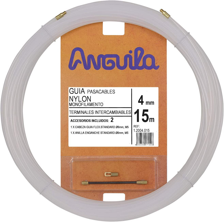 Natural Anguila 12004010 Gu/ía pasacables Nylon Monofilamento 10 Metros