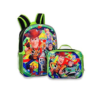 "Toy Story 4 - 16"" Backpack with Detachable Matching Lunch Box: Toys & Games"
