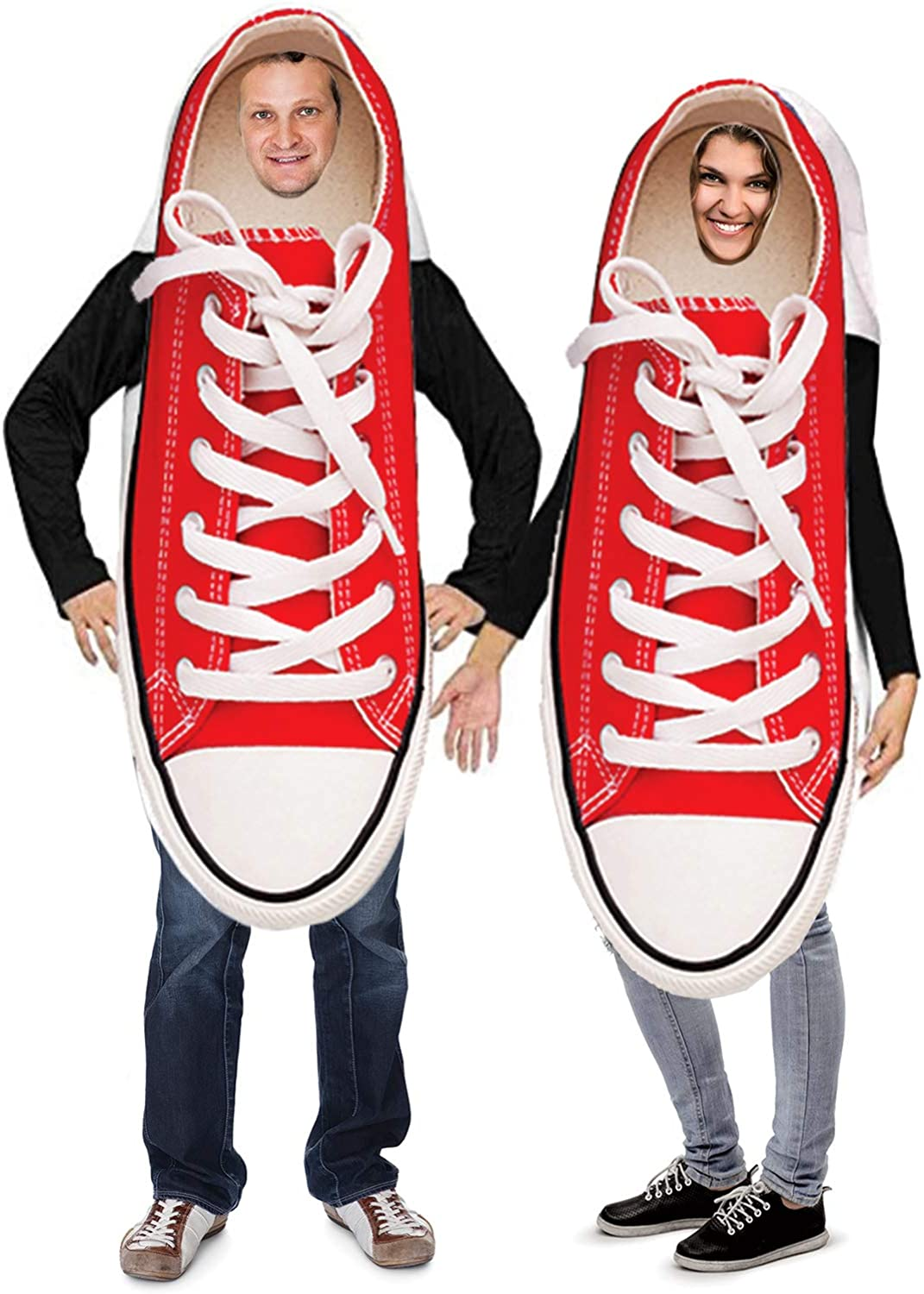 Amazon Com Tigerdoe Couples Costumes Novelty Sneaker Costume Funny Adult Halloween Costumes 2 Pc Clothing