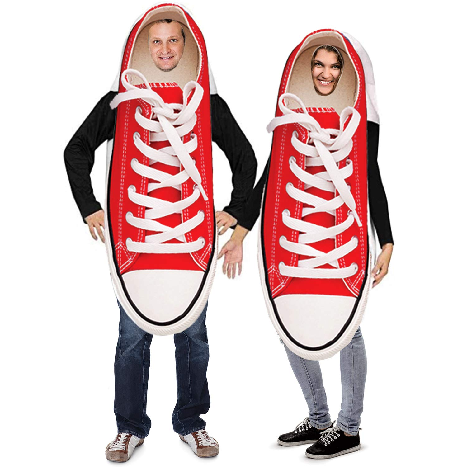 Tigerdoe Couples Costumes \u2013 Novelty Sneaker Costume \u2013 Funny Adult Halloween  Costumes \u2013 2 Pc