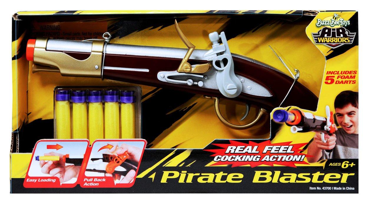 Amazon BuzzBee Pirate Flintlock Foam Dart Blaster Toys Games