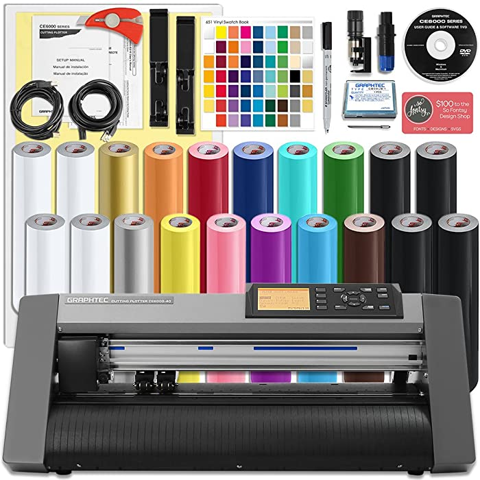 A vinyl cutter plotter bundle
