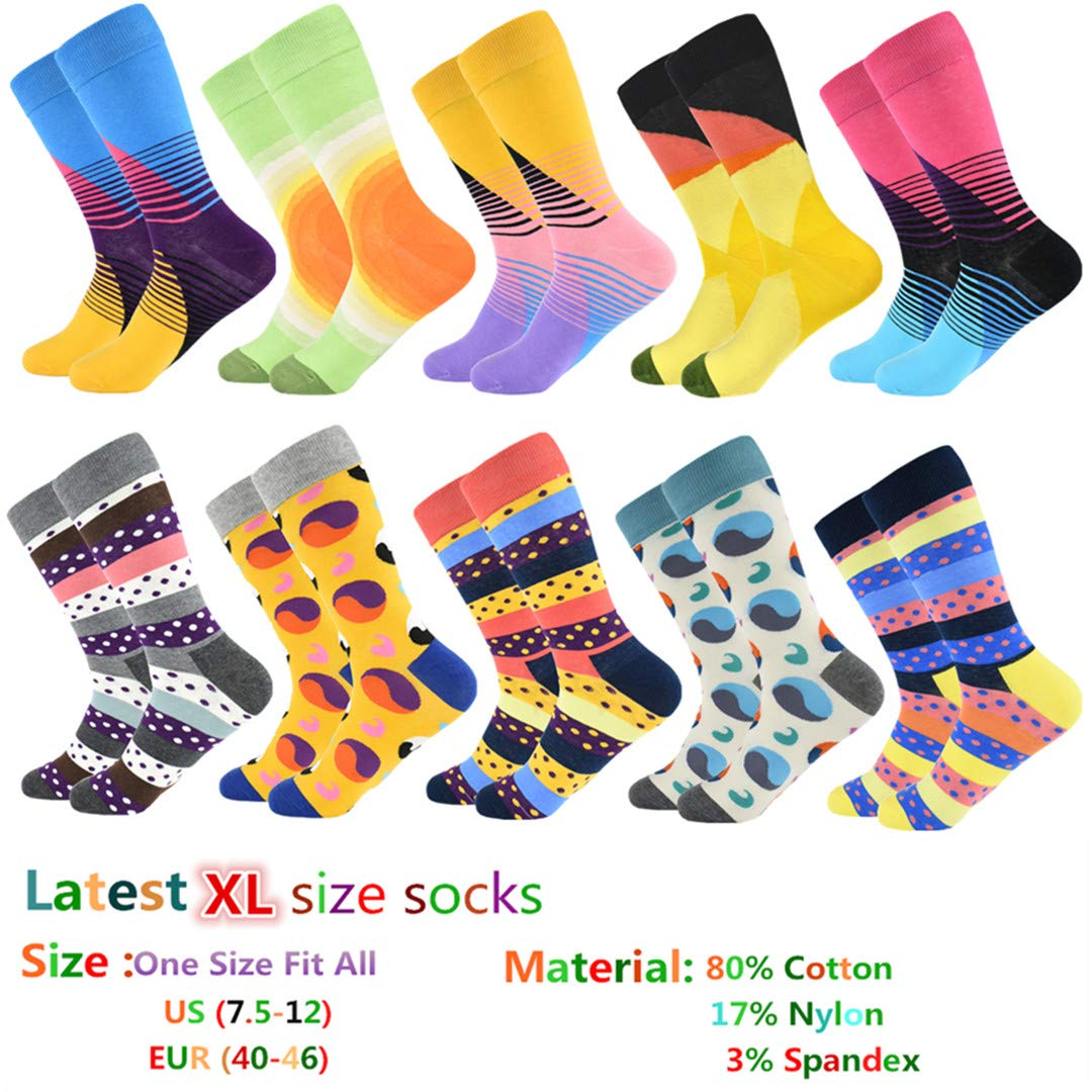 Funny Socks Sokken Calcetines Hombre NEW Mens Happy Combed Cotton Socks at Amazon Mens Clothing store: