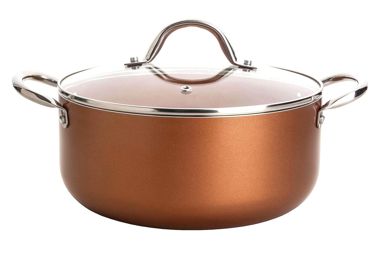 Culinary Edge 5-Quart Die Cast Aluminium Copper Ceramic Nonstick Dutch Oven
