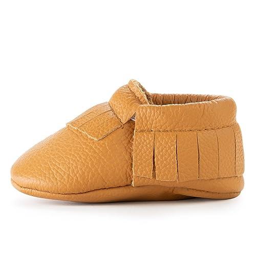 BirdRock Baby Mocasines de Suela Blanda BirdRock niños de Cuero Zapatos de niños en Edad Preescolar