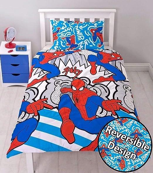 Kids Superhero Character Duvet Cover Set Children Reversible Bedding Single DBL