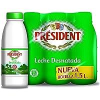 President Leche Desnatada 1,5L x 6 = 9L