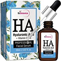 StBotanica Hyaluronic Acid Facial Serum + Vitamin C, E - 20ml - Under Eye Dark Circles, Anti Aging, Skin Fairness Brightening