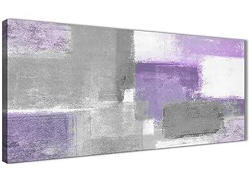 Lila Grau Wandbild Ölgemälde Schlafzimmer Leinwand Kunstdruck Zubehör U2013  Abstrakt 1376u2013120 Cm Print Wallfillers