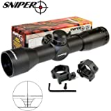 SNIPER Compact Rifle Scope 4x32 with Ring, Hunting Scope