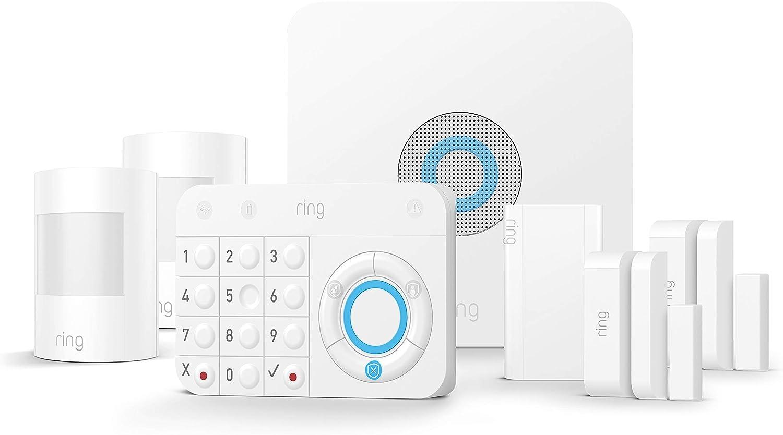Ring Alarm Kit de 7 piezas (1.ª generación) de Amazon – sistema de seguridad para el hogar con vigilancia asistida opcional – sin compromiso a largo plazo– compatible con Alexa