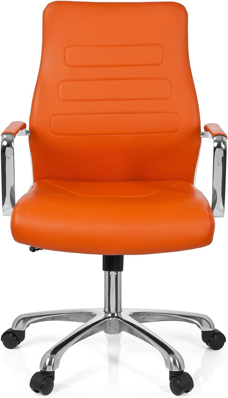 chaise bureau /à roulettes TEWA vert en simili-cuir hjh OFFICE 720009 chaise de bureau pi/ètement robuste en acier si/ège pivotant avec accoudoirs dossier ergonomique design moderne et /él/égant