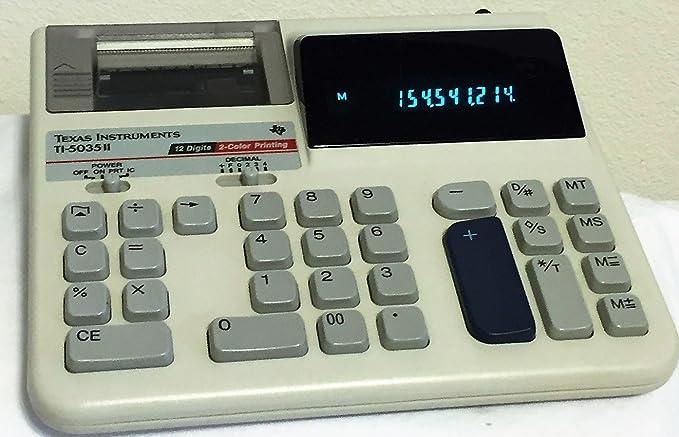 Texas Instrument ti-5035 Impresora calculadora Pantalla añadir ...