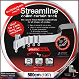 Streamlined Coiled Curtain Track - 500cm