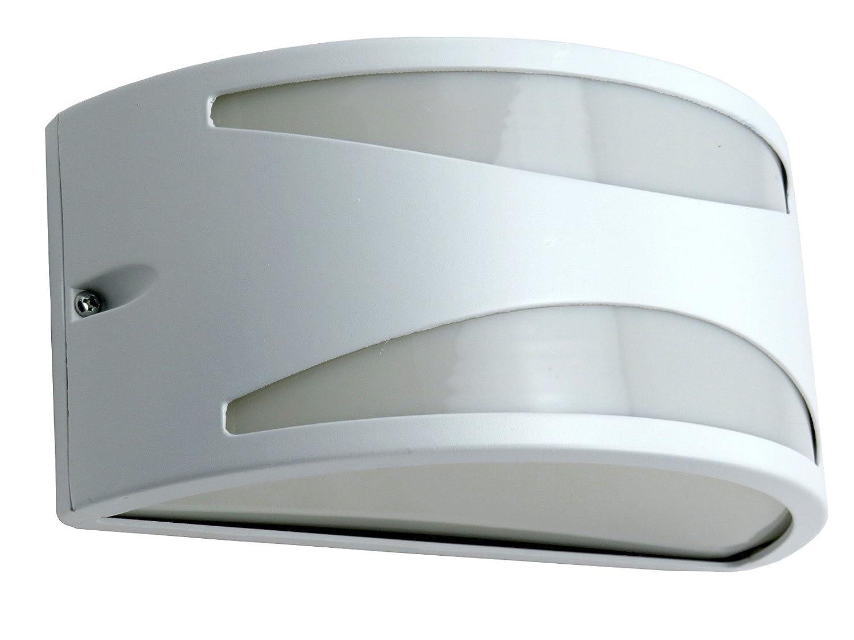 Applique mezzaluna moderna lampada da parete per esterno BIANCO diamantlux