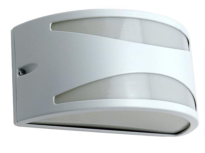 Applique mezzaluna moderna lampada da parete per esterno bianco