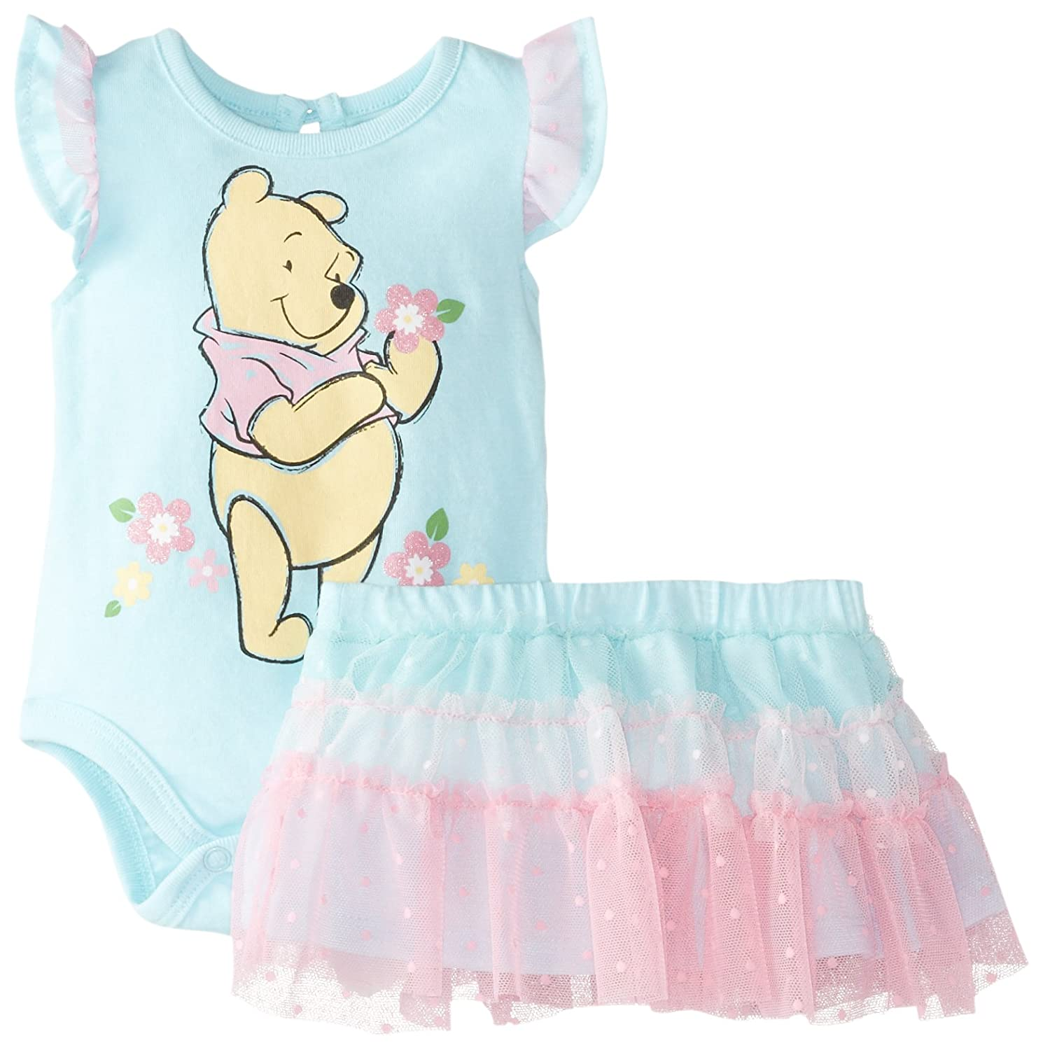 Disney Baby-Girls  Winnie The Pooh Creeper with Skirt