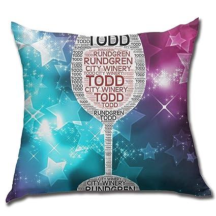 Amazon.com: Joseph E Hinton Todd Rundgren Decorative Square ...