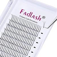 Voorgemaakte Russische Volume Lashes 3D 0.10mm Dikte C Curl 11mm FADLASH Lengte Premade Wimperverlengingen Premade Fans