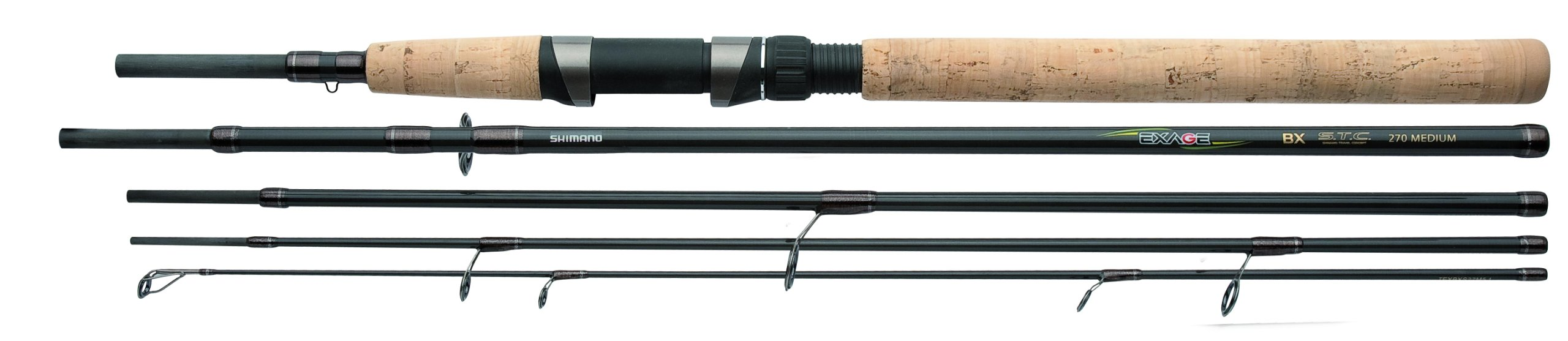 Shimano Exage BX STC Spinning 9 Feet, Castingweight 1.75 - 3.50 ounce, Travel Spinning Fishing Rod, TEXBXS27XH5