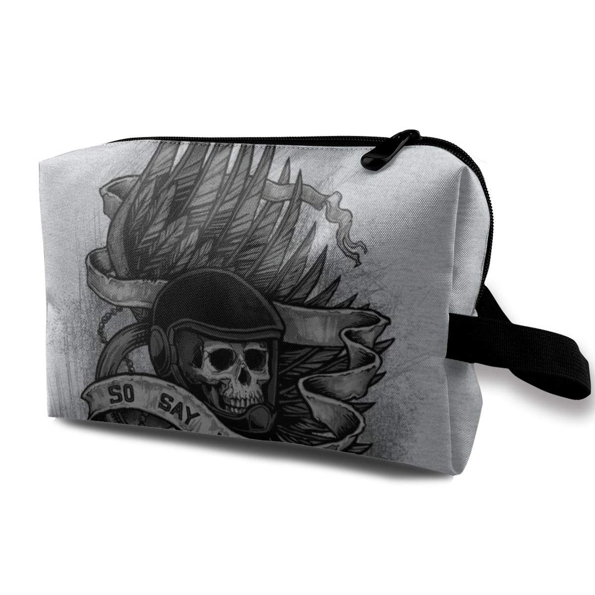 Makeup Bag Cosmetic Pouch Admiral Adama Battlestar Galactica So Say We All Multi-Functional Bag Travel Kit Storage Bag