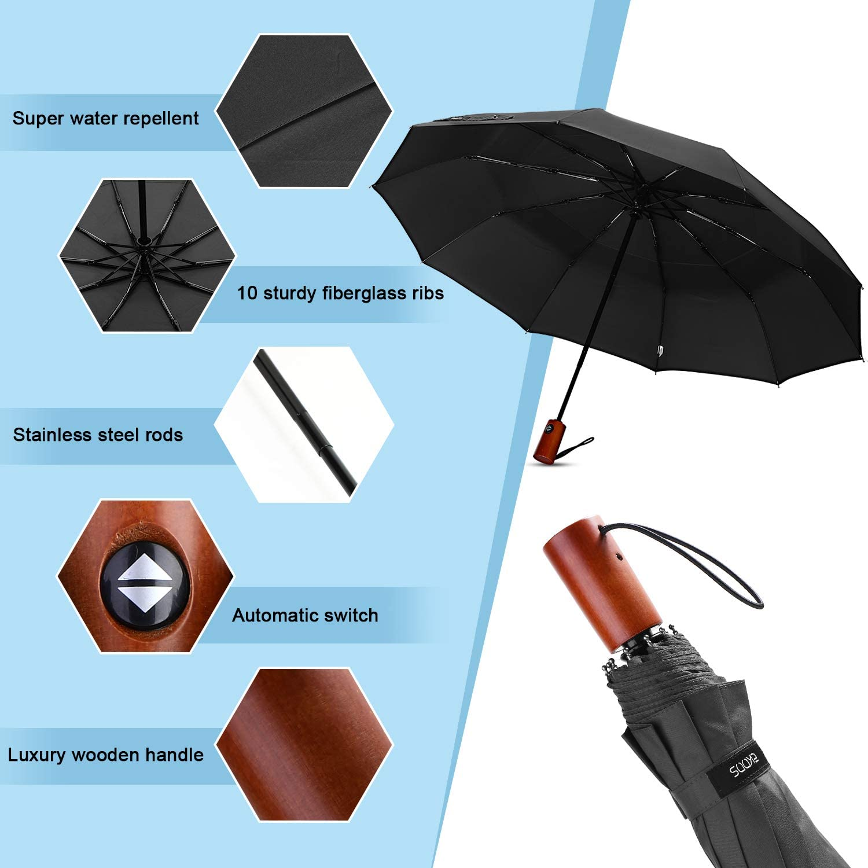 Windproof Travel Umbrella Love Nightmare Before Christmas Compact Folding Umbrella Automatic Open//Close
