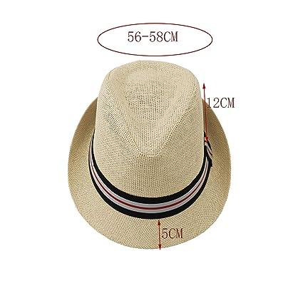 Wilhelm Sell/® Sombrero de Paja Panam/á Sombrero de Fieltro en Blanco con Lazo Negro Sombrero para el Sol 01 Piezas - Blanco