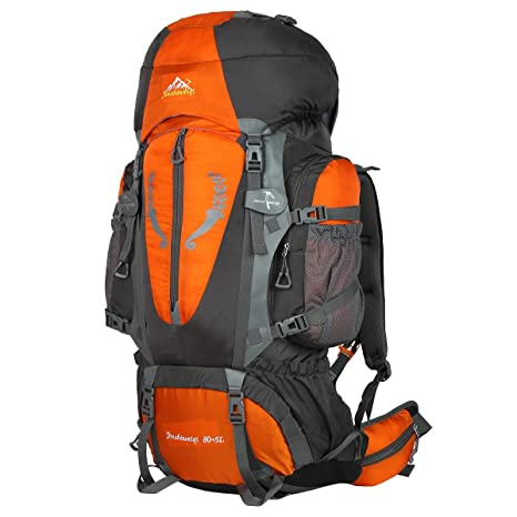 29c83a555b HWJIANFENG Zaini 80+5L Sportivi Unisex in Nylon Poliestere da Trekking Borse  per Outdoor Campeggio