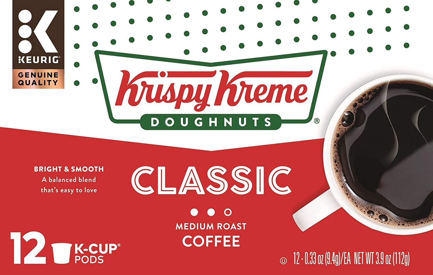 Krispy Kreme Smooth K Cups, 12 ct