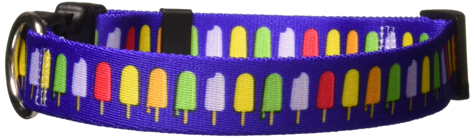 Yellow Dog Design Popsicles Dog Collar, Medium-1'' Wide fits Neck Sizes 14 to 20'' Wide