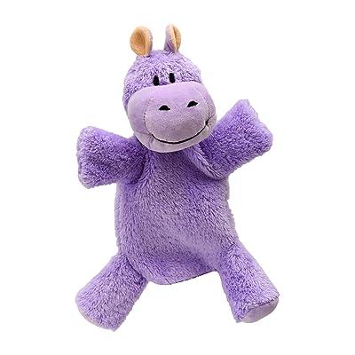 ABA 28cm Hippopotame Marionnette à Main avec pieds (Violet)