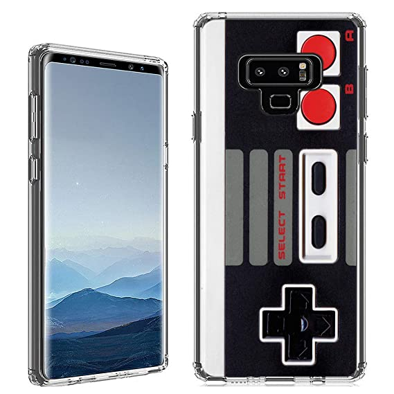 Amazon.com: Galaxy Note 9 Case [Retro Controller](Clear ...