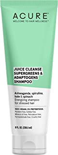 product image for ACURE Juice Cleanse Supergreens & Adaptogens Shampoo | 100% Vegan | Antioxidant Shampoo For Super Stressed Hair | Ashwagandha, Spirulina, Kale & Spinach - Brightens & Re-Energizes Hair | 8 Fl Oz
