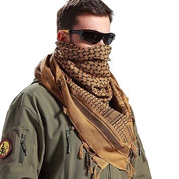 79f613c93ae FREE SOLDIER militaire 100% coton Keffieh tactique Desert Keffieh Foulard  pour homme et femme (