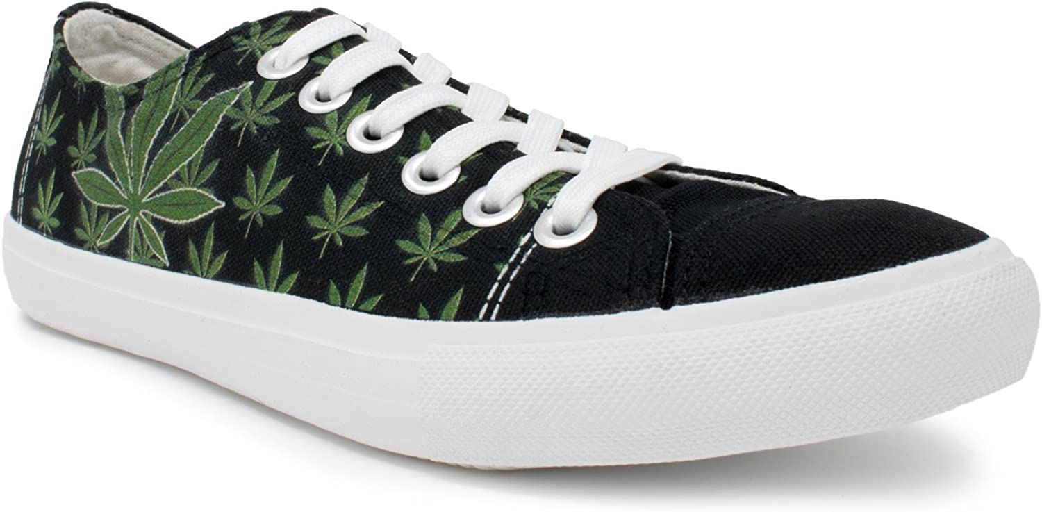 Cannabis Flag Weed Men Canvas Casual Shoes Sneakers Breathable Basketball Shoes