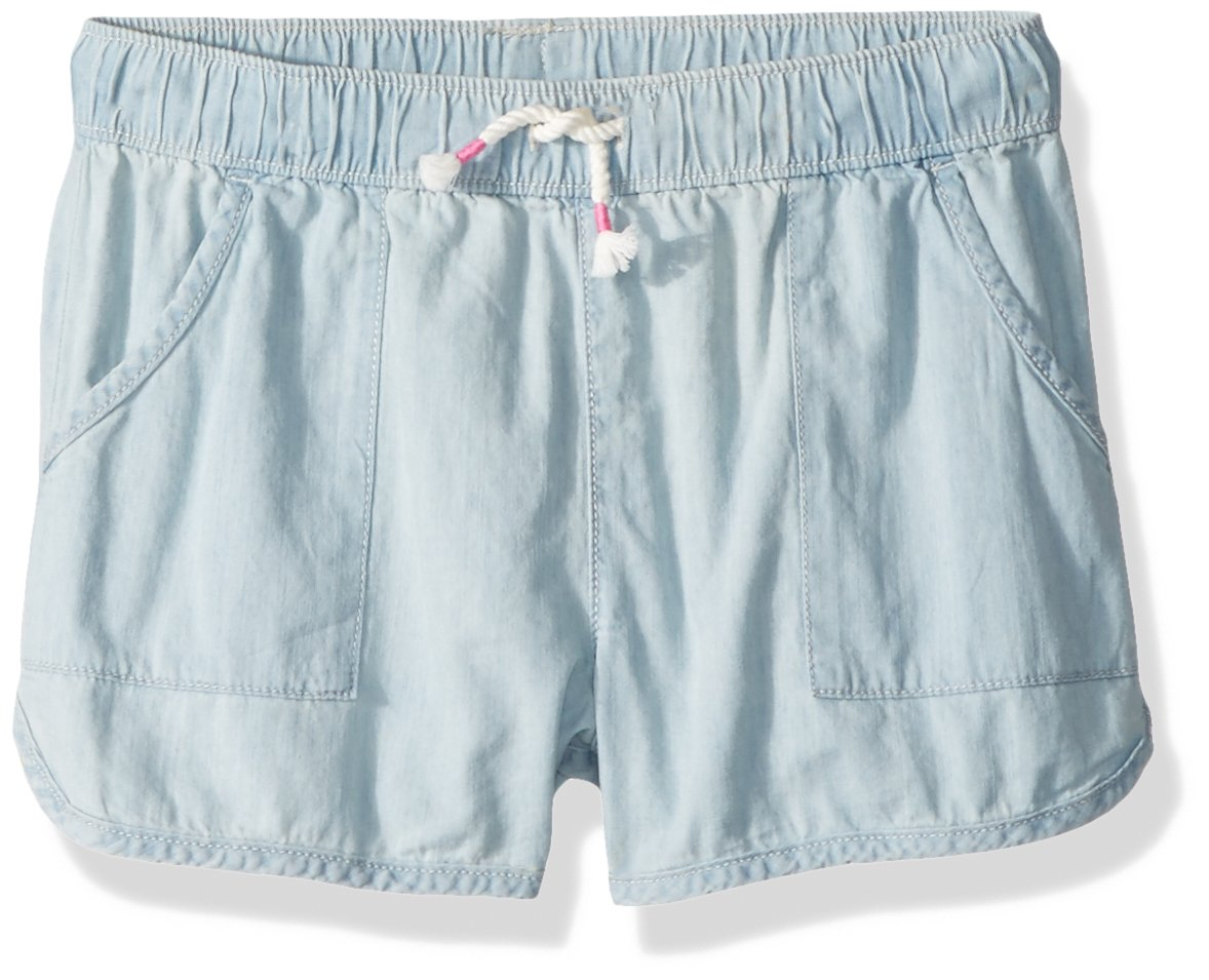 Osh Kosh Girls' Toddler Pull on Shorts, Summer Bleach, 2T