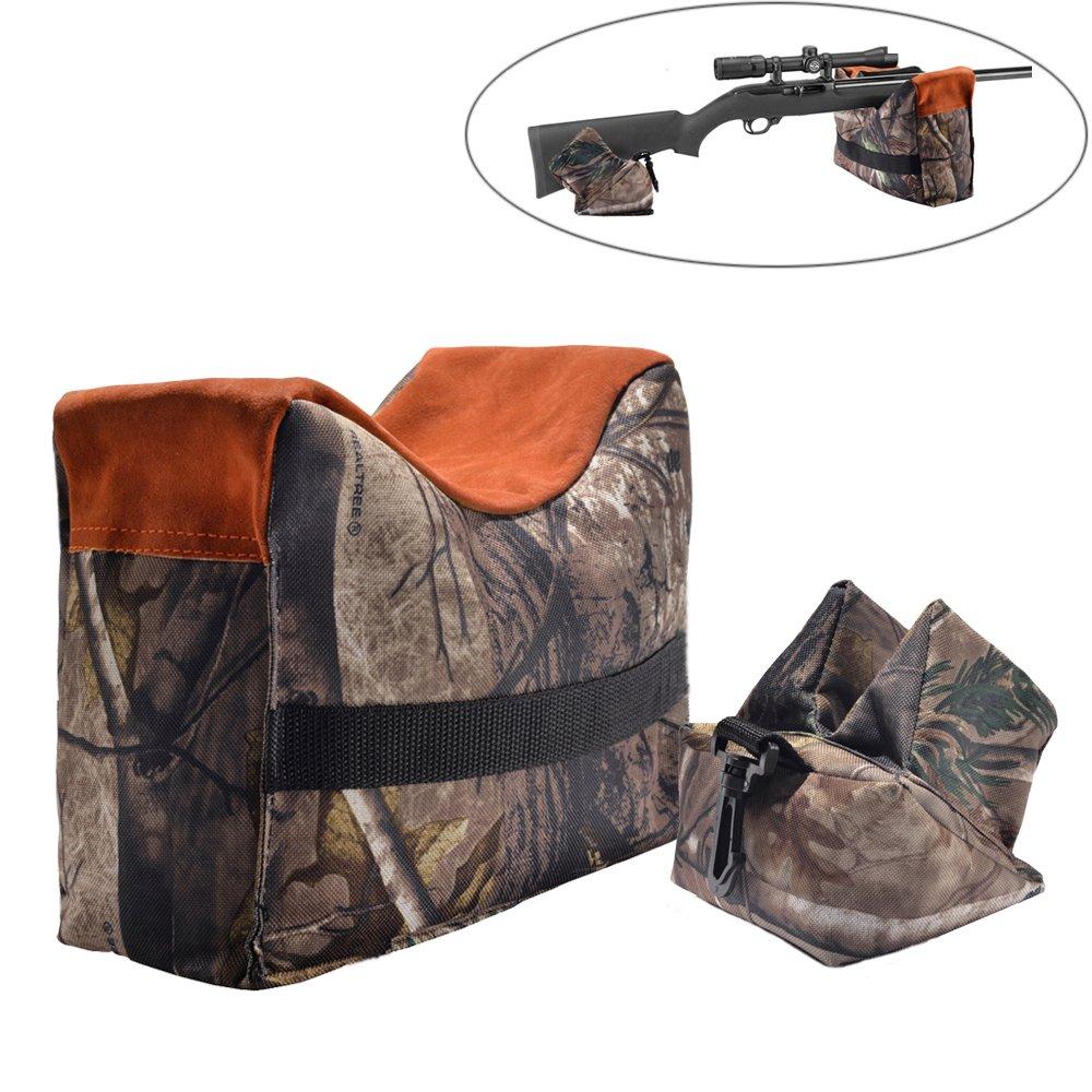 Banco de rifle de aire pistola de disparo resto bolsa sacos táctico delantera y trasera Combo bolsa Dead Shot sin relleno Pronghorn