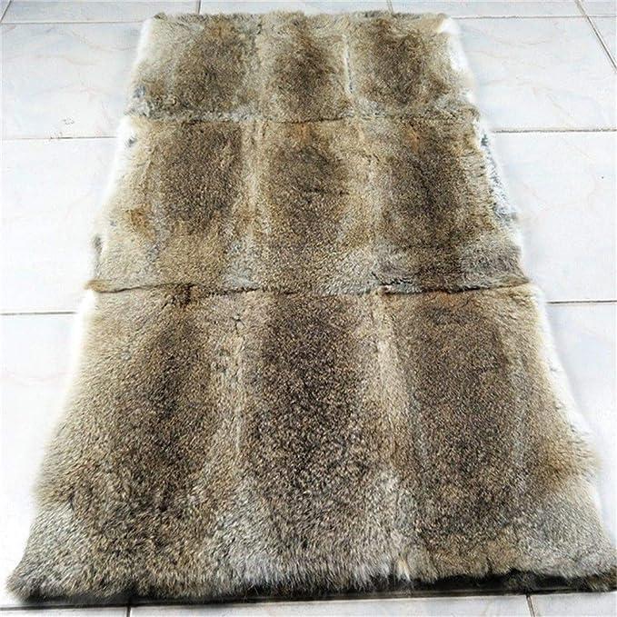 Luxury Real Rabbit Fur Blanket Rug Real Fur Blanket Carpet Cosy Suitable Throw