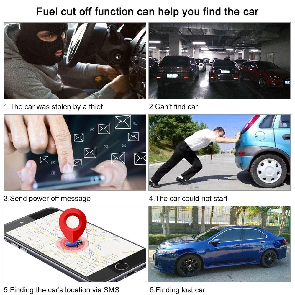 Trayectoria Hist/órica KKmoon Seguimiento de Vehiculos,GPS SMS GPRS Tracker Coche,Localizador en Tiempo,Localizador Gps Coche Tracker,Rastreador Localizador Gps SOS para Ayuda Valla Electr/ónica
