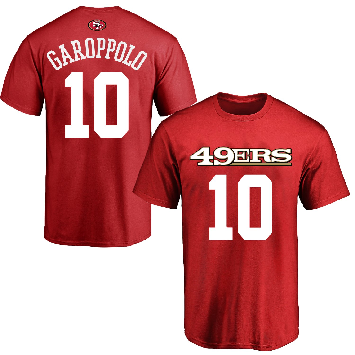 reputable site 7920a d2655 Outerstuff Jimmy Garoppolo San Francisco 49ers #10 Red Youth Name & Number  Shirt