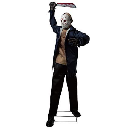 Halloween Jason.Amazon Com Party City Friday The 13th Animated Jason Voorhees