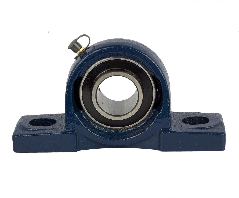 2 Pieces UCP202-10 Pillow Block Bearing 5//8 Bore 2 Bolt Solid Base